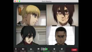 If Eren become a teacher in a zoom online class PART 1