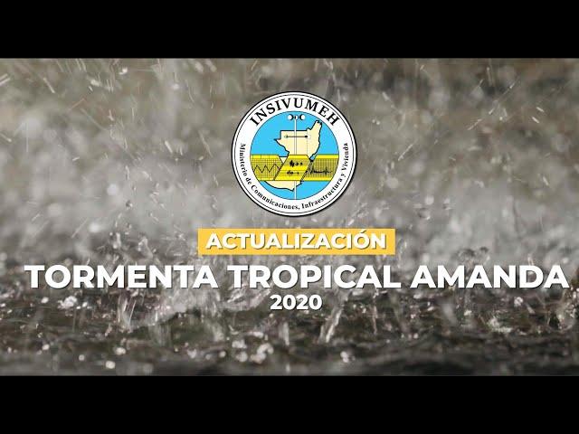 Actualización depresión tropical Amanda 2020
