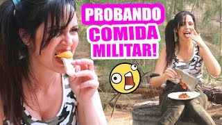 COMIDA MUY RARA! PROBANDO COMIDA MILITAR - SandraCiresArt