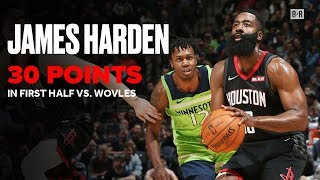 James Harden Drops 30 Points in First Half vs. Timberwolves   Rockets Highlights