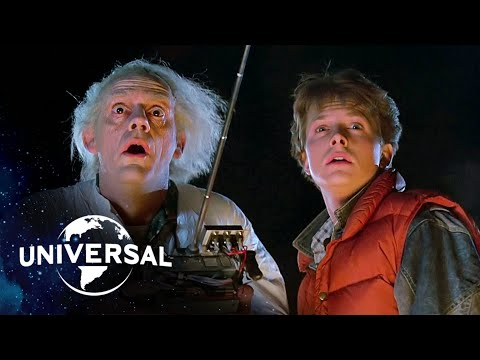 Back to the Future | The Very First DeLorean Time Travel Scene