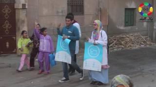 صور وفيديو| الاتحاد المصري لطلاب الصيدلة ينظم حملة توعية بمرض السكر في قرية الزيتون | السوايفة