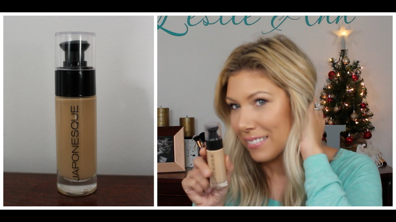 Japonesque Luminous Foundation First Impression Leslie Ann Youtube