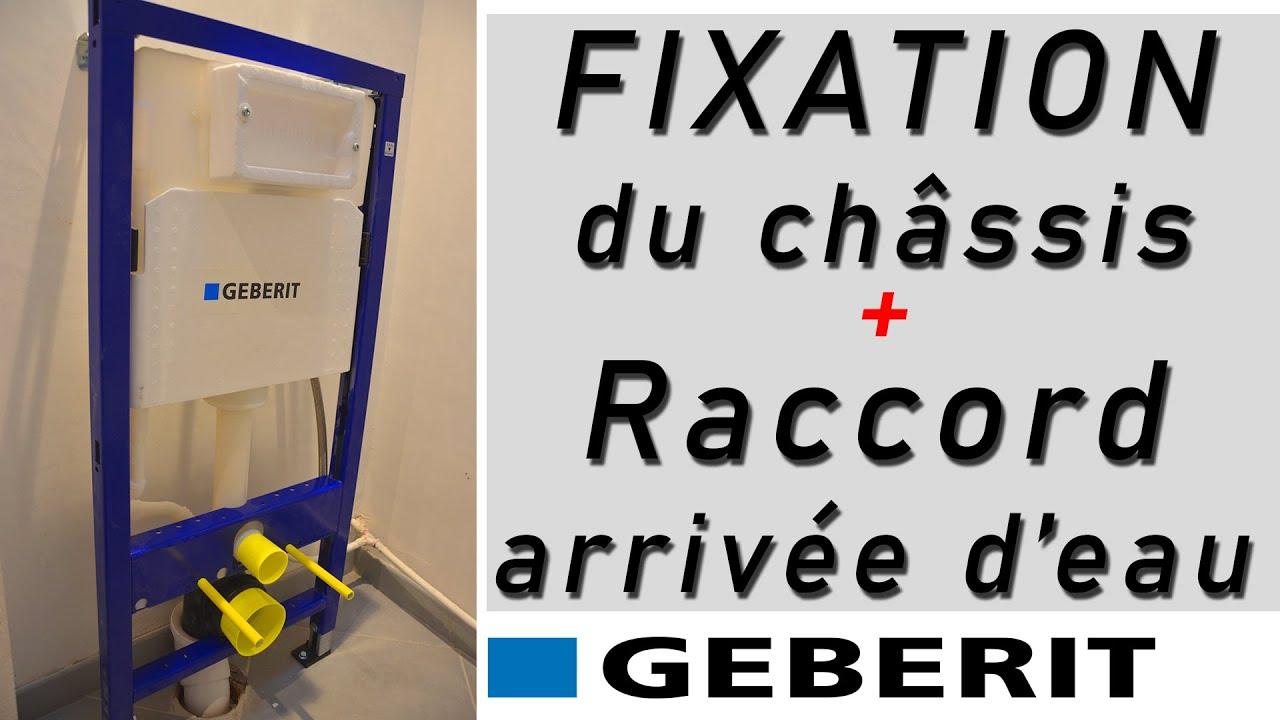 Wc Suspendu Geberit Duofix Tutoriel Mise En Place Du Chassis Bati Support Raccord A L Eau Youtube
