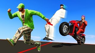 MOTORBIKE VS RUNNERS! (GTA 5 Funny Moments)