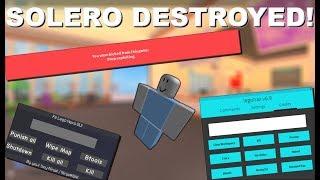 Roblox exploiting #3! Destroying Soleró! w/ Fe btools!