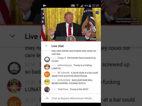 Racists & Antisemites respond to Trumps News conference 17 February 2017
