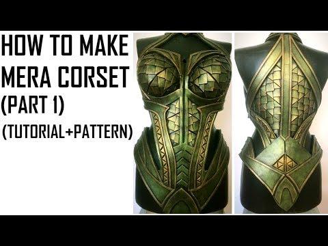 How To Make Mera Corset Breastplate Tutorial Template Youtube