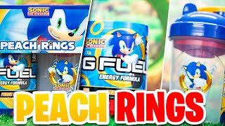 "NEW ""SONIC PEACH RINGS"" G-FUEL FLAVOR UNBOXING & FIRST TASTE TEST W/COMPARISON TO OTHER DRINKS!"