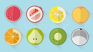 Fruit Flat Icons