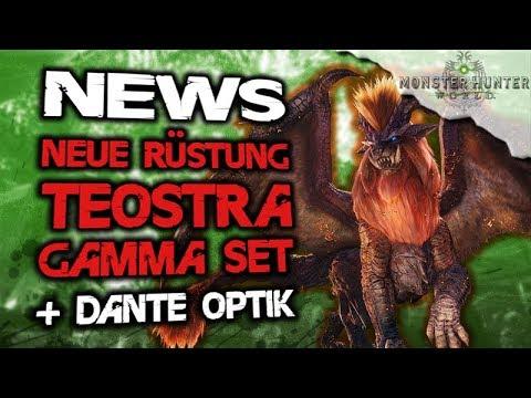 Monster Hunter World Deutsch - NEWS Neues Rüstung Teostra Gamma Set + Dante Optik - MHW