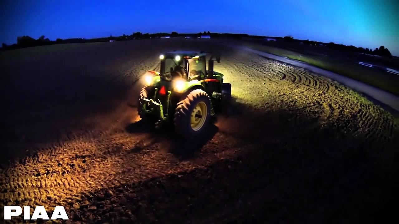 Piaa Rf Series Led Lightbars On A John Deere Tractor Youtube