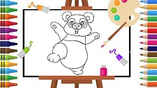 How to Draw panda -Coloring pages for Kids - Art Colors for Children - Learn Drawing - Art Explain