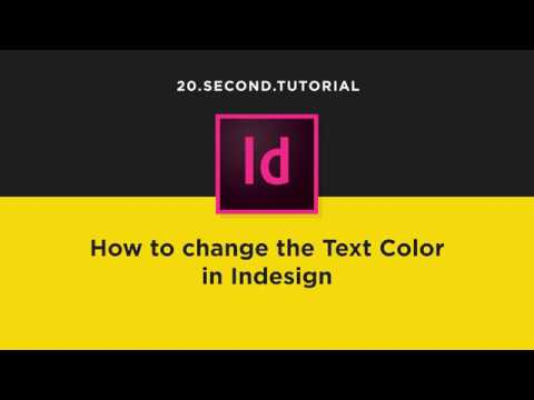 Change Text Color in Indesign | Adobe InDesign Tutorial #14