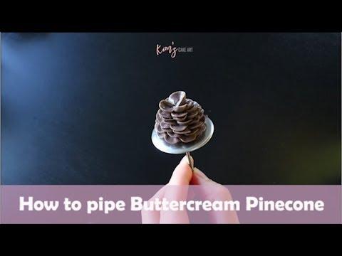 how to pipe buttercream pine cone korean buttercream flower youtube. Black Bedroom Furniture Sets. Home Design Ideas