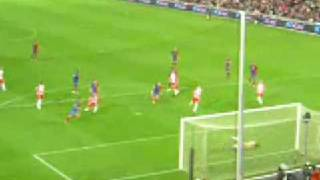 Dani Alves free kick goal (5-0 agianst almeria)