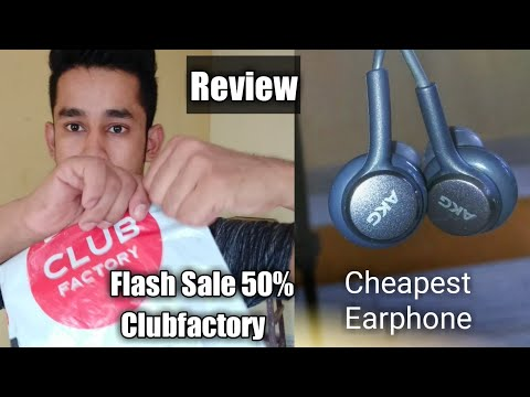 AKG earphone Review - ClubFactory Flash sale - Get Upto 50% Discount..!