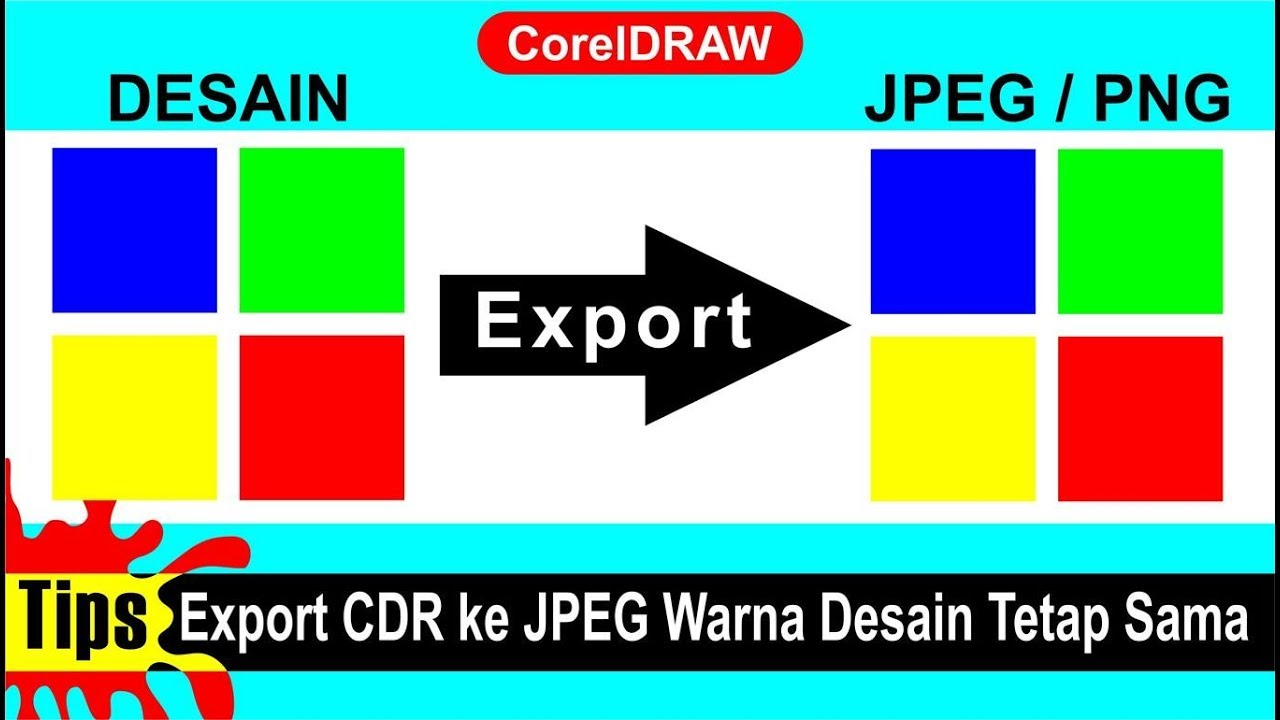 Tips Export File Cdr Ke Jpeg Warna Desain Tetap Sama Tutorial Coreldraw Youtube
