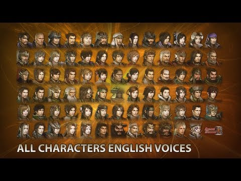 Dynasty Warriors 8 - All 77 Characters + English Voices
