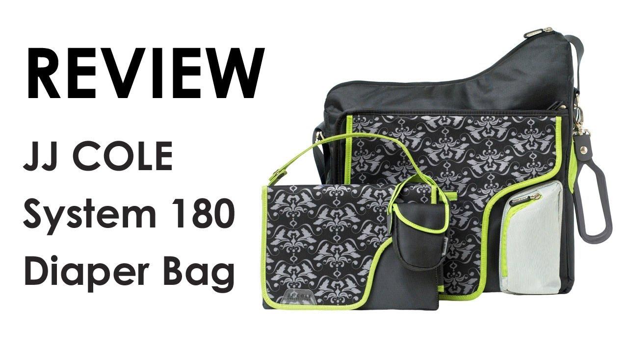 jj cole system 180 diaper bag review youtube. Black Bedroom Furniture Sets. Home Design Ideas