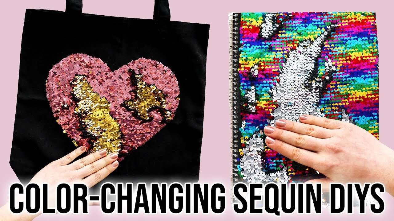 4 Diys Using Color Changing Sequin Fabric Youtube