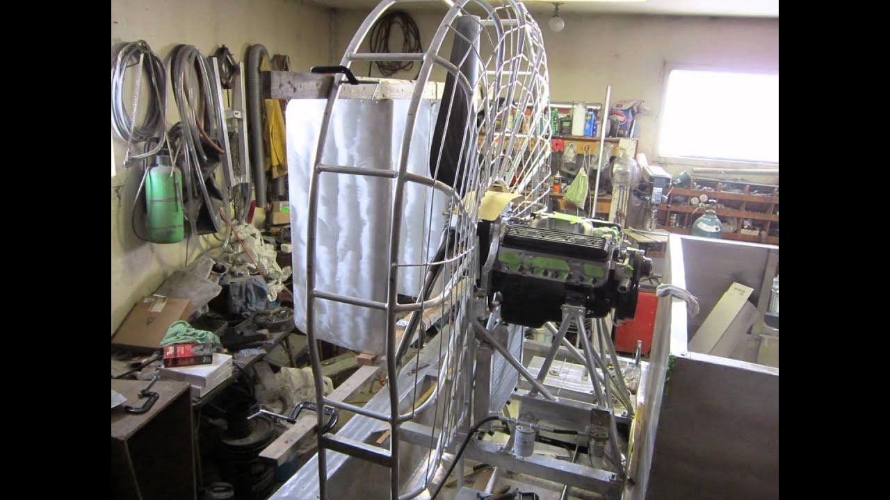 Airboat construction home build part 4 youtube for How to build an airboat motor