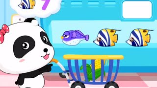 baby panda play and learn the numbers   fun couting numbers for toddler   babybus kids games
