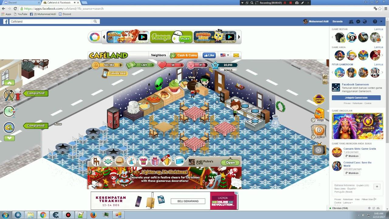 Cafeland Facebook Game...