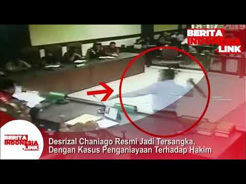 Desrizal Chaniago pengacara yg melakukan penyerangan terhadap Hakim PN Jakpus, resmi jadi Tersangka.
