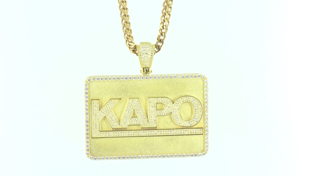 Fresh New Yellow Gold Icedout Custom Design with Franco Chain Mens ...
