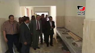«البديوي» يتفقد أعمال بناء «المدارس اليابانية» بـ«المنيا الجديدة»