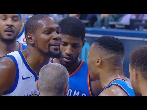 Russell Westbrook SHUTS UP Kevin Durant for Trash Talking!!!