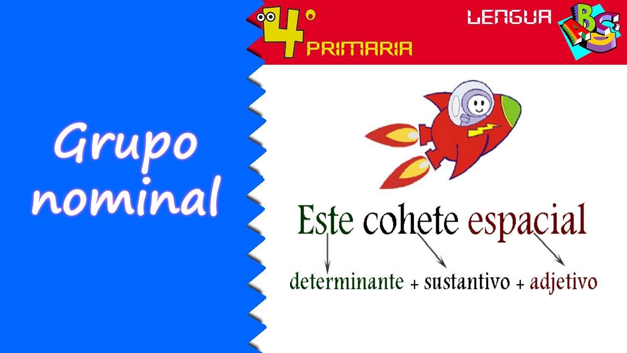Lengua Castellana. 4º Primaria. Tema 3. El grupo nominal - YouTube