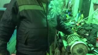 Демонтаж рулевой рейки с автомашины ОКА.
