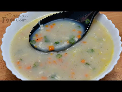 Garlic Soup Recipe/ Healthy Soup Recipes/ Garlic Vegetable Soup