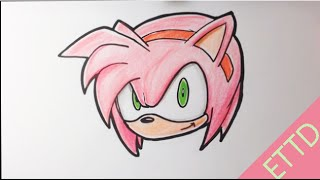 How to Draw Amy from Sonic the Hedgehog - Easy Things To Draw