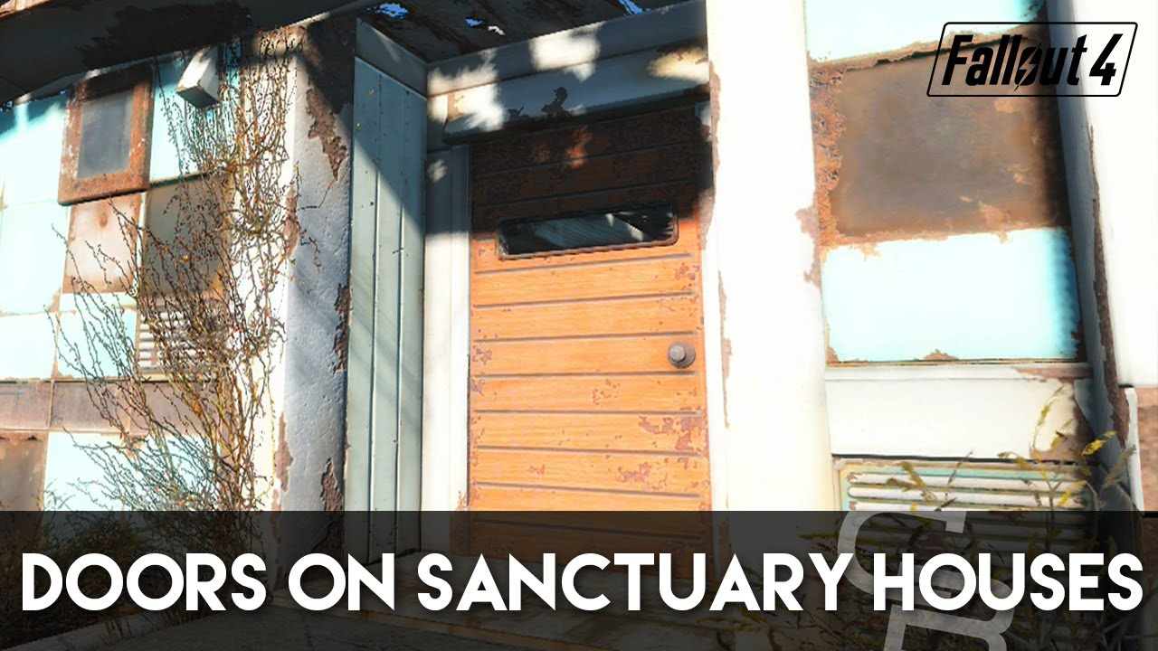 Fallout 4   How To Put Doors On Sanctuary Houses! (Fallout 4 Building  Tutorial)   YouTube