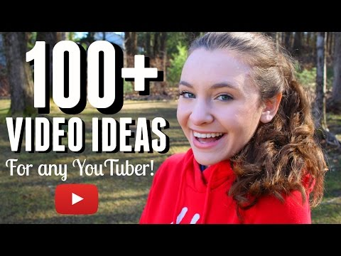 100+ VIDEO IDEAS FOR ANY YOUTUBER!!