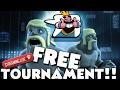 (HD) FREE PASSWORD 200 PERSON TOURNAMENT!! :: Clash Royale - Live Stream