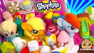Shopkins Season 2 Unboxing with Fash'ems Toys Disney Frozen Queen Elsa & MLP Applejack in RV Part 3