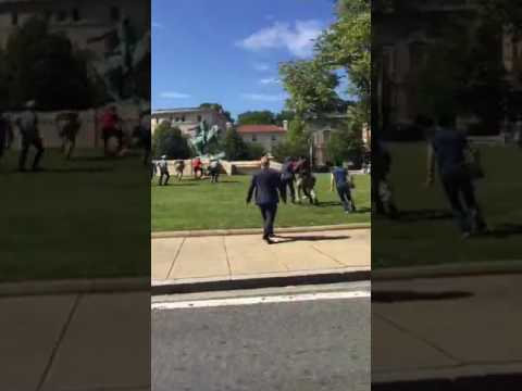 Fights Break Out In Washington DC As Erdogan Visits The White House