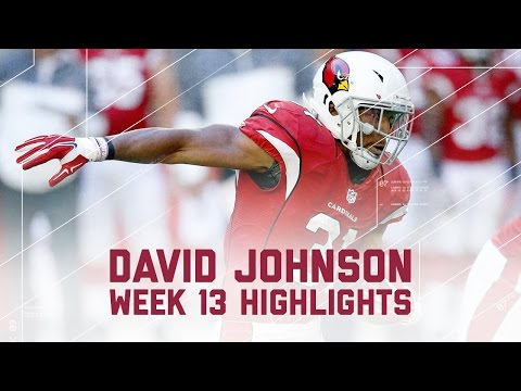 David Johnson's Explodes With 175 Total Yards!   NFL Week 13 Player Highlights