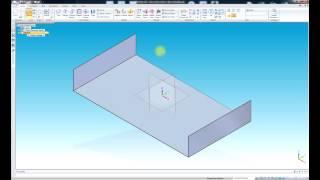 Solid edge ST4 - листовой металл. Урок 3 Интерфейс, перемещение в пространстве.