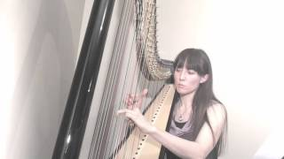 Harp Music - Ave Maria - Prélude No 1 by J.S. Bach (played on 44 string Camac Clio pedal harp)