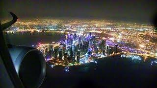 Qatar Airways A350 Night Takeoff Doha