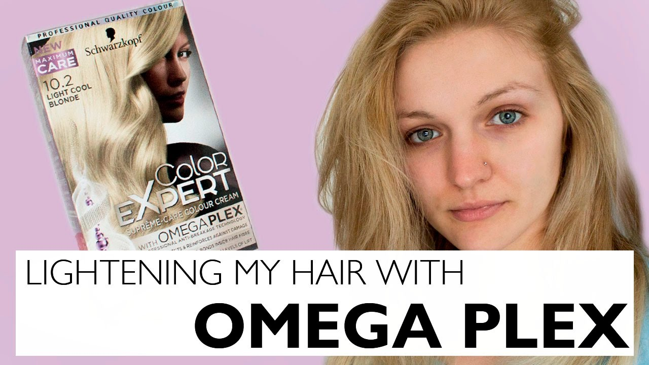 Lightening My Hair At Home Omegaplex Youtube