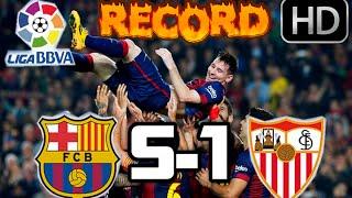 Barcelona 5-1 Sevilla RESUMEN Y GOLES HD  MESSI HISTÓRICO  22-11-14