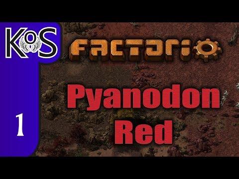 Factorio Pyanodon Red Ep 1: HARSH NEW PLANET! - 0 16 - Gameplay