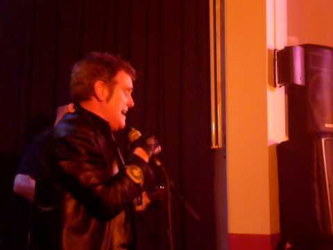 Alvin Stardust performing Duffy worldwide hit Mercy