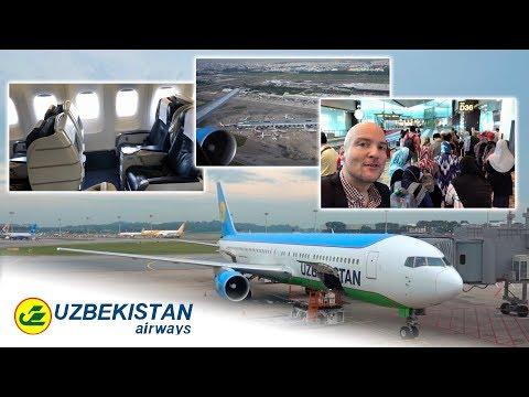 RARE INSIGHT! Uzbekistan Airways Boeing 767-300 Business Class!!! [AirClipsTraveller.com]